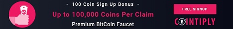 Earn free bitcoins on Cointiply